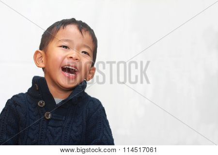 Smiling Japanese boy (4 years old)