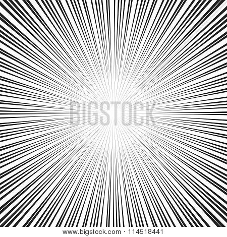 Vector comic book speed lines background.