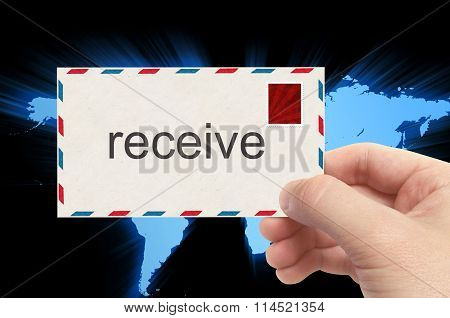 Receiving Mail - Email Receiving Concept