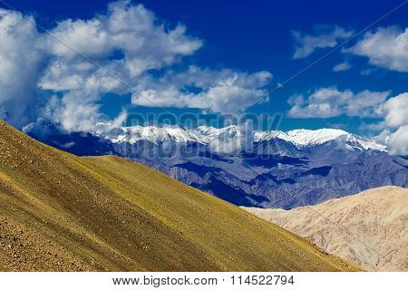 View Of Snow Peaks, Leh Ladakh  Jammu And Kashmir, India