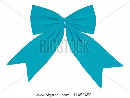 Velvet Bow - Light Blue