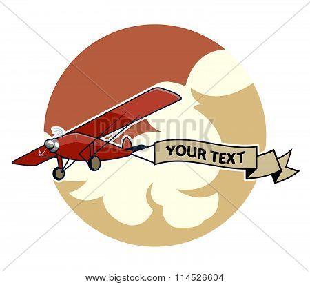 Classic Airplane2 Dragging Ribbon