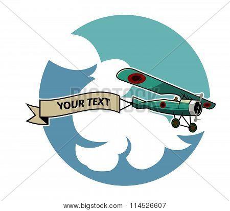 Classic Airplane Dragging Ribbon