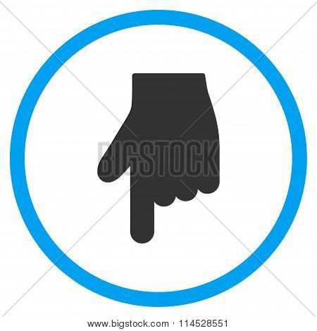 Down Index Finger Icon