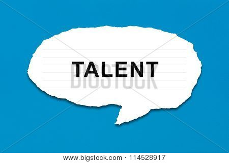 Talent With White Paper Tears