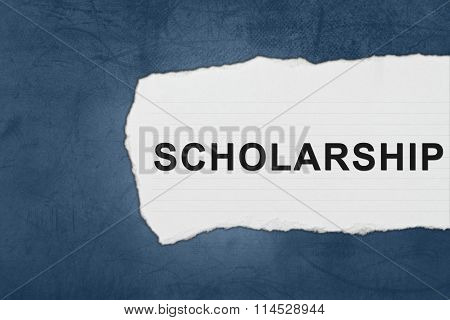Scholarship With White Paper Tears