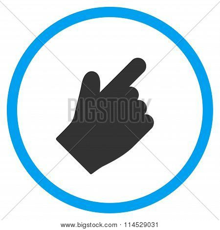 Up Right Index Finger Flat Icon