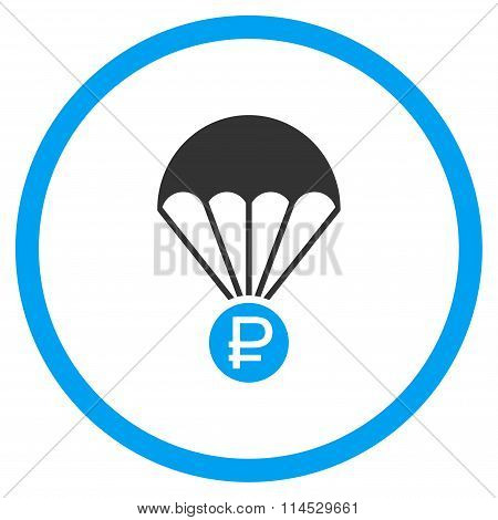 Rouble Rescue Flat Icon