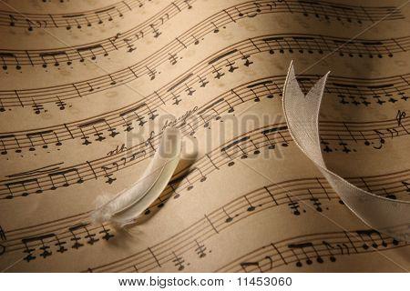 Sheet Music Close-Up.