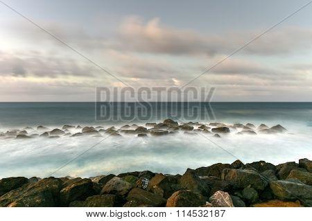 Beach And Rocks Off San Juan, Puerto Rico