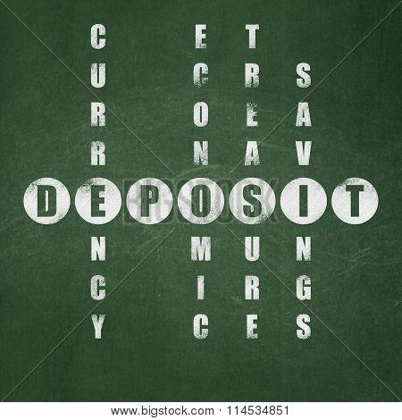 Banking concept: Deposit in Crossword Puzzle