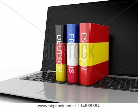 3D Dictionaries On Computer Keyboard. E-learning