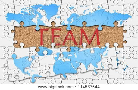 Jigsaw Puzzle Reveal  Word Team