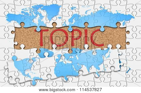 Jigsaw Puzzle Reveal  Word Topic