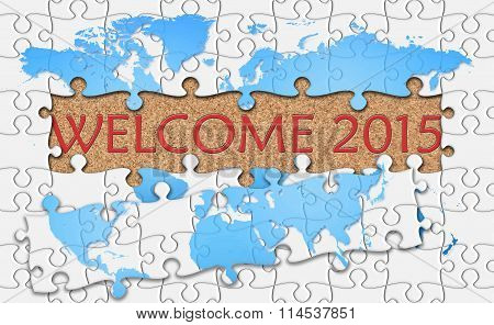Jigsaw Puzzle Reveal  Word Welcome 2015
