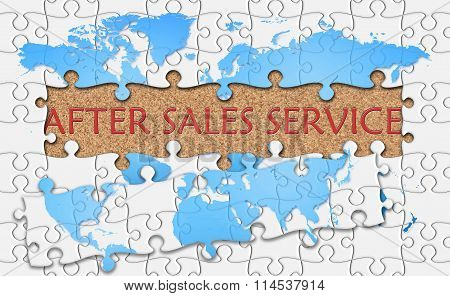 Jigsaw Puzzle Reveal  Word After Sales Service