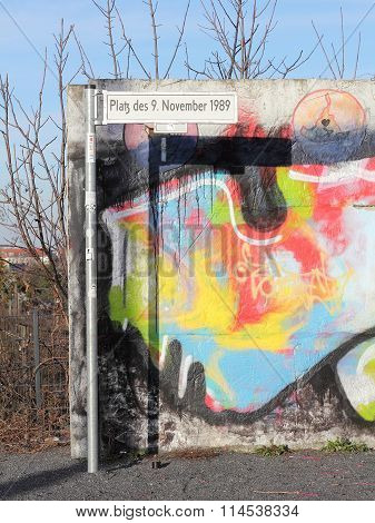 Fragment Of Berlin Wall At The Bornholm Bridge