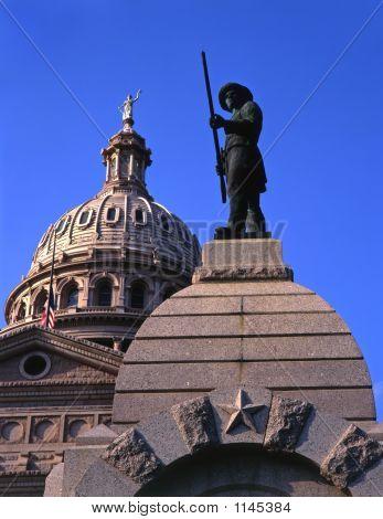Statue & Texas Capitol