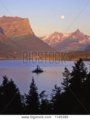 Wildgoose Island & Moon