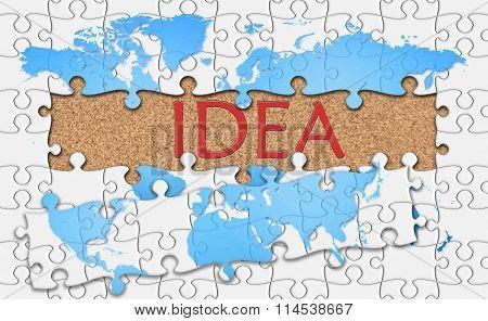 Jigsaw Puzzle Reveal  Word Idea
