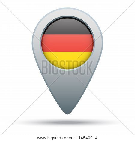 Germany map pointer