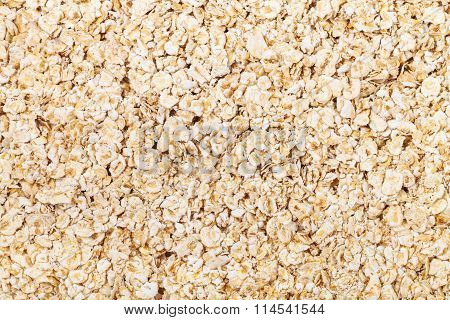 Many Dry Oat Flakes