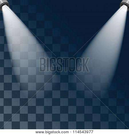 Studio And Rays Of Light