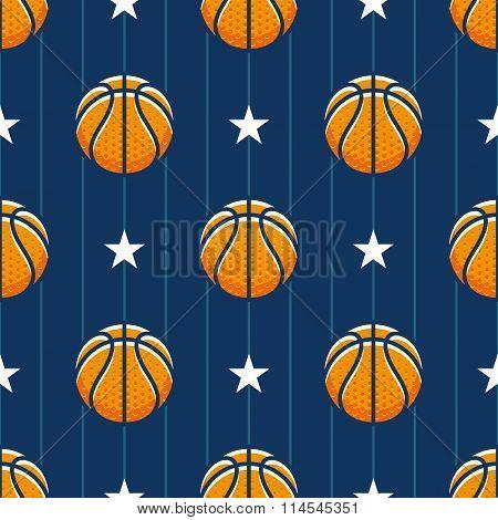 Basketball Sport Seamless Pattern