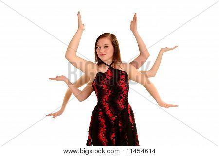 Tänzerin mit Medusa armen