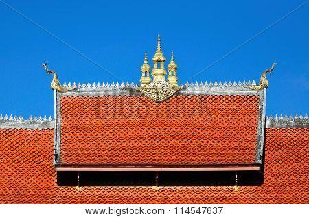 Architecture Detail Of Temple In Luang Pra Bang, Laos