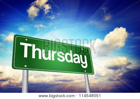 Thursday Green Road Sign