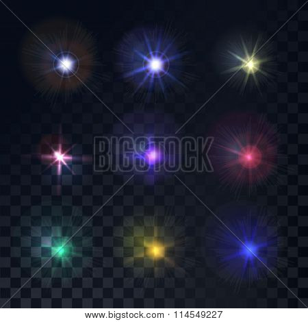Colorful Shining Lights Set