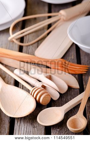 Full Table With Wooden Spoons