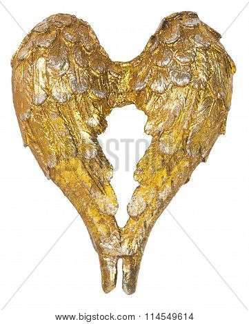 Christmas Angel Wings Gold Decoration