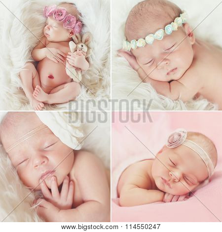 close-up portrait of a beautiful sleeping baby