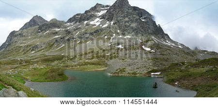 Small lake in the mountain