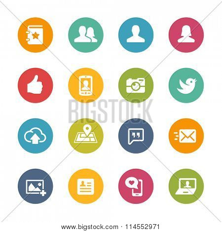Social Icons // Fresh Colors Series ++ Icons and buttons in different layers, easy to change colors ++