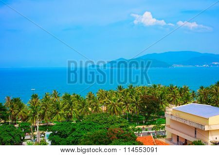 Tropical Landscape With Sea Bay And Islands