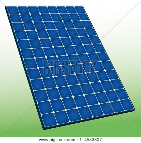 High efficiency solar panel of 96 monocrystalline cell.