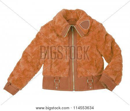 orange jacket isolated on white background
