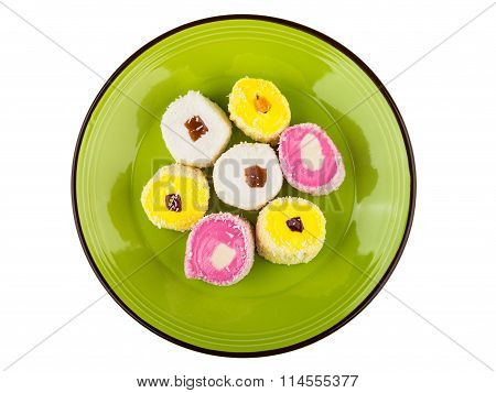 Multicolor Turkish Delight In Glass Plate