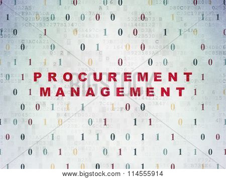 Finance concept: Procurement Management on Digital Paper background