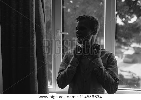 Wedding portrait of groom