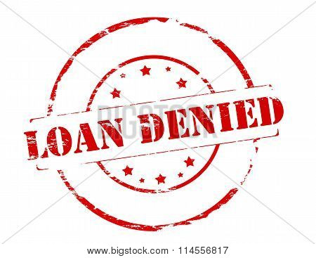 Rubber stamp with text loan denied inside vector illustration