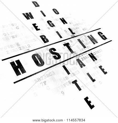 Web design concept: Hosting in Crossword Puzzle