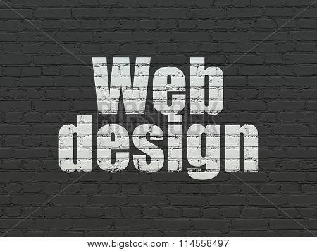 Web design concept: Web Design on wall background
