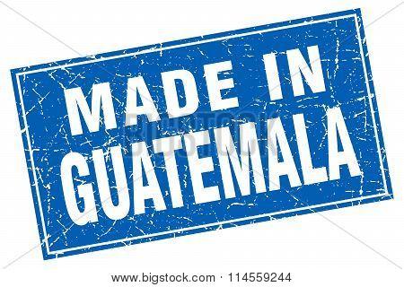 Guatemala Blue Square Grunge Made In Stamp