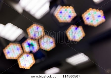 Out Of Focus Operating Room Lights