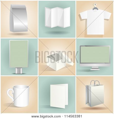 Blank Design Items Templates Set