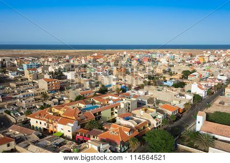 Aerial View Of Santa Maria City In Sal Island Cape Verde - Cabo Verde